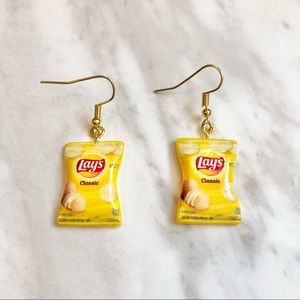 🎉 New Lays Chip Bags Dangle Earrings